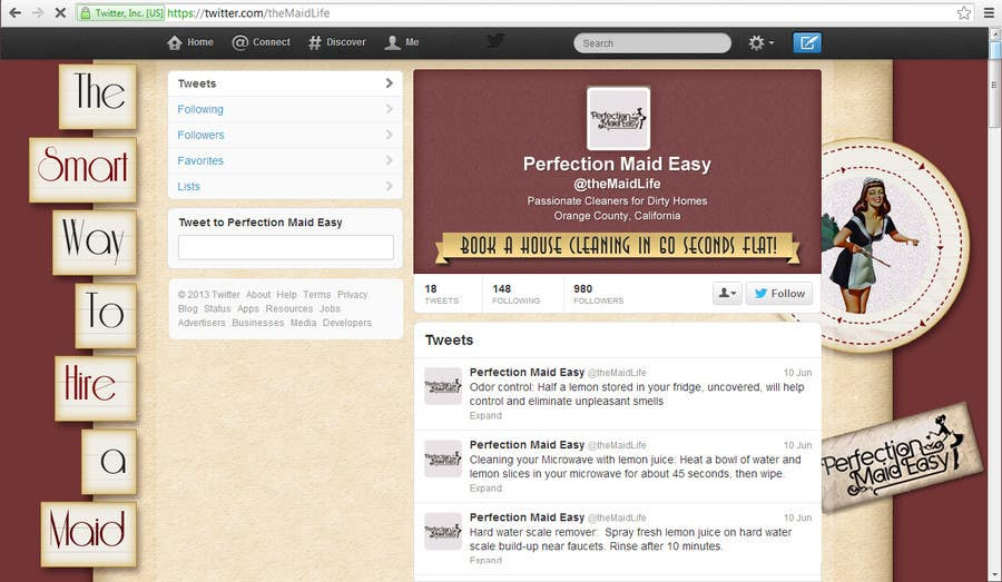 Penyertaan Peraduan #11 untuk Design a Twitter background for Company