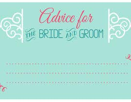 #1 cho Design some Stationery for wedding advice cards bởi ancadc