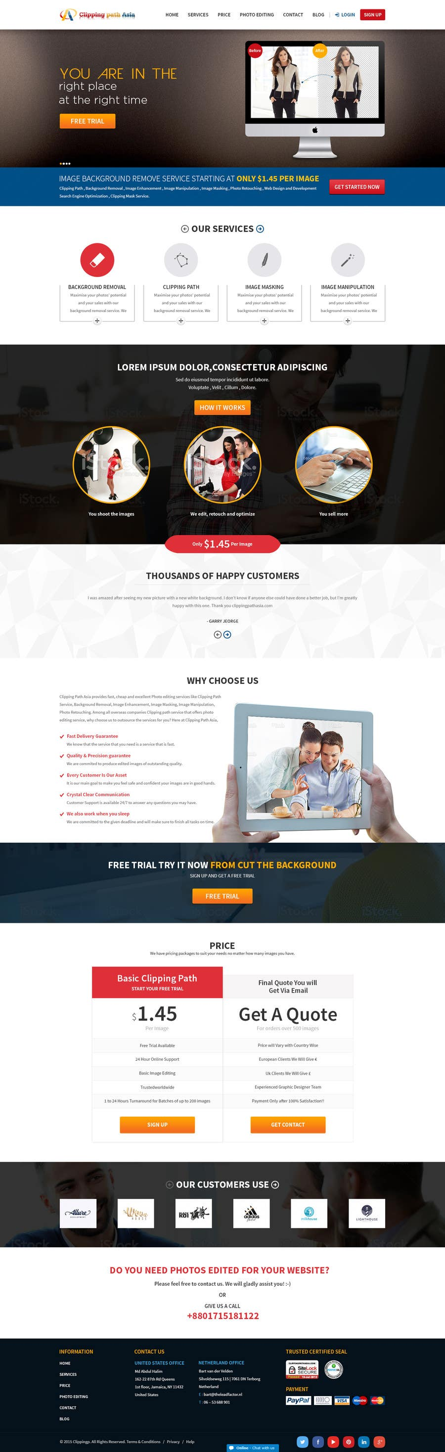 Kilpailutyö #12 kilpailussa Design a Website Mockup for clippingpathasia.com