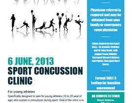 #4 untuk Design a Flyer for Sports Concussion Clinic oleh sushilkumar91