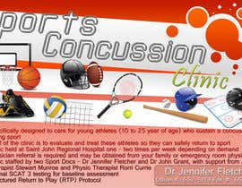 #7 untuk Design a Flyer for Sports Concussion Clinic oleh MadGavin