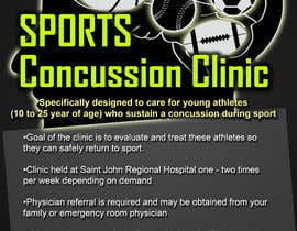#13 untuk Design a Flyer for Sports Concussion Clinic oleh GreenworksInc