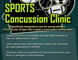 #14 untuk Design a Flyer for Sports Concussion Clinic oleh GreenworksInc