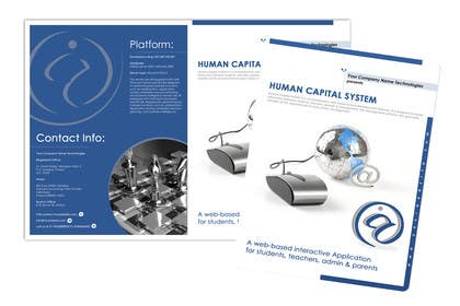 #13 untuk Re-Design of Human Capital System Brochure oleh LeeniDesigns