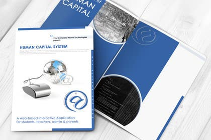 #26 untuk Re-Design of Human Capital System Brochure oleh LeeniDesigns
