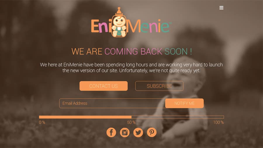 "Penyertaan Peraduan #16 untuk Build a ""Coming Soon Website"" for my Baby Producct Brand"