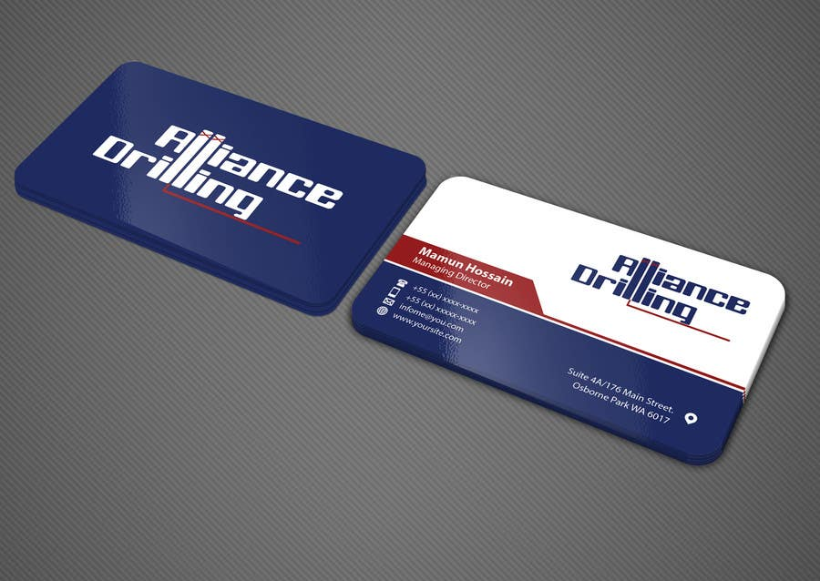 Entry 106 By Mamun313 For Design Some Business Cards For Drilling