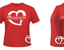 #46 untuk Design a T-Shirt for Oceanside Valentine Week oleh brissiaboyd