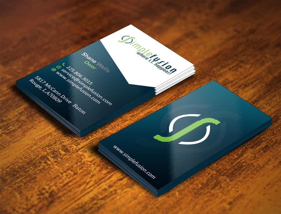Entry 115 By Gohardecent For Simplefusion Business Cards Freelancer
