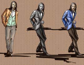 #14 untuk Fashion scketch or Illustration of male model oleh patacafelei