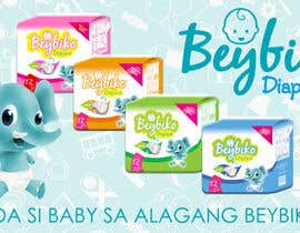 #42 untuk Design a Banner for Diaper Products oleh abodigital