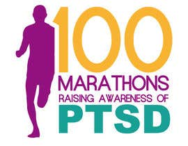 #59 untuk Design a Logo for 100 Marathons for Post Traumatic Stress Disorder oleh edwindaboin
