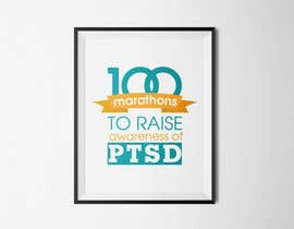 #36 untuk Design a Logo for 100 Marathons for Post Traumatic Stress Disorder oleh cuongprochelsea