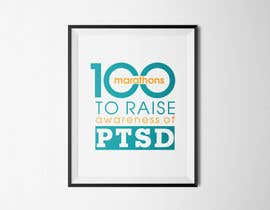 #37 untuk Design a Logo for 100 Marathons for Post Traumatic Stress Disorder oleh cuongprochelsea