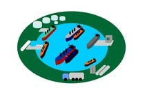 Graphic Design Entri Peraduan #9 for Illustrate Something for maritime logistics for LNG