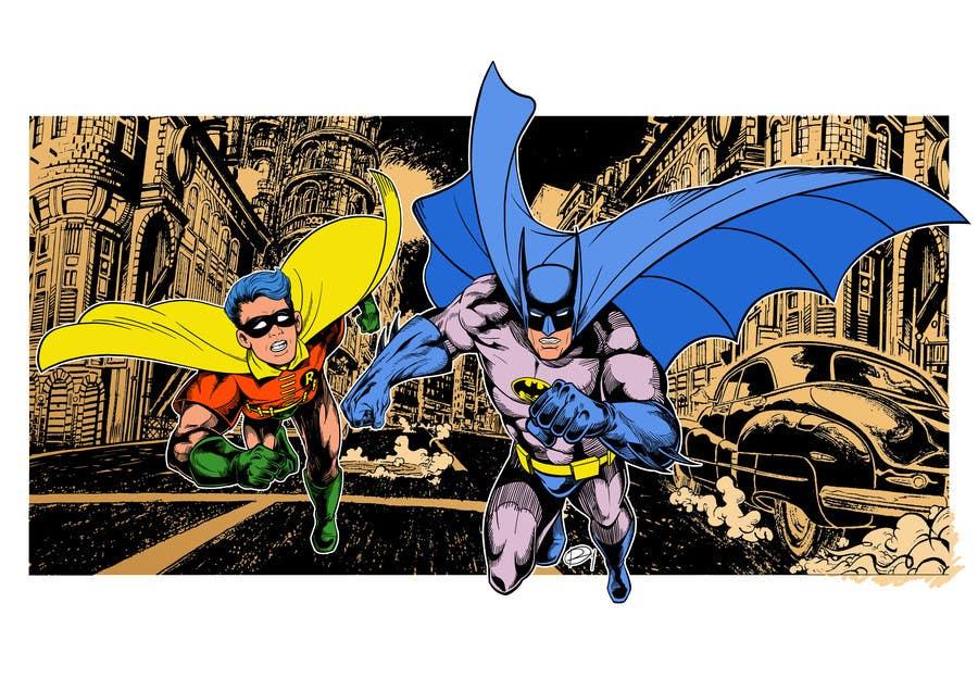 Kilpailutyö #15 kilpailussa 1960,s style Batman and Robin cartoon