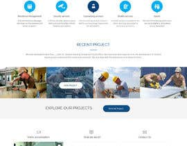 #16 untuk Design a Website Mockup for a construction company oleh syrwebdevelopmen