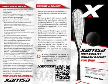 #4 untuk Xamsa Squash Brochure Design oleh yaris196