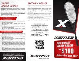 #9 untuk Xamsa Squash Brochure Design oleh ssergioacl