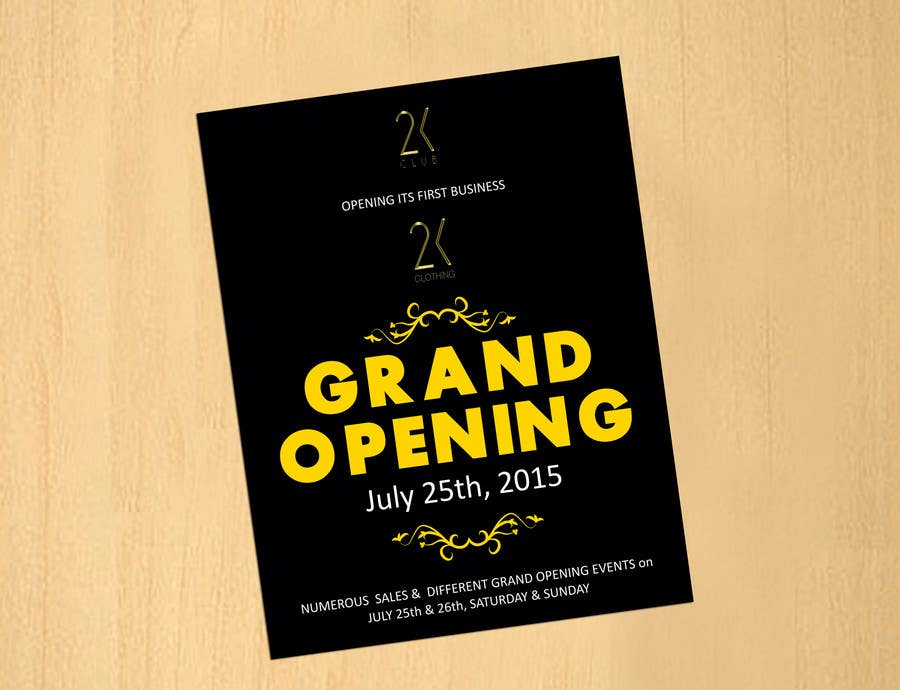 entry 59 by dinesh0805 for design a flyer for grand opening of