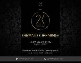 #23 for Design a Flyer for grand opening of clothing store af mega619