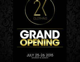 #31 for Design a Flyer for grand opening of clothing store af mega619