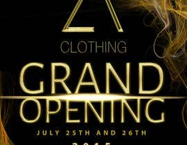 #75 for Design a Flyer for grand opening of clothing store af silvi86