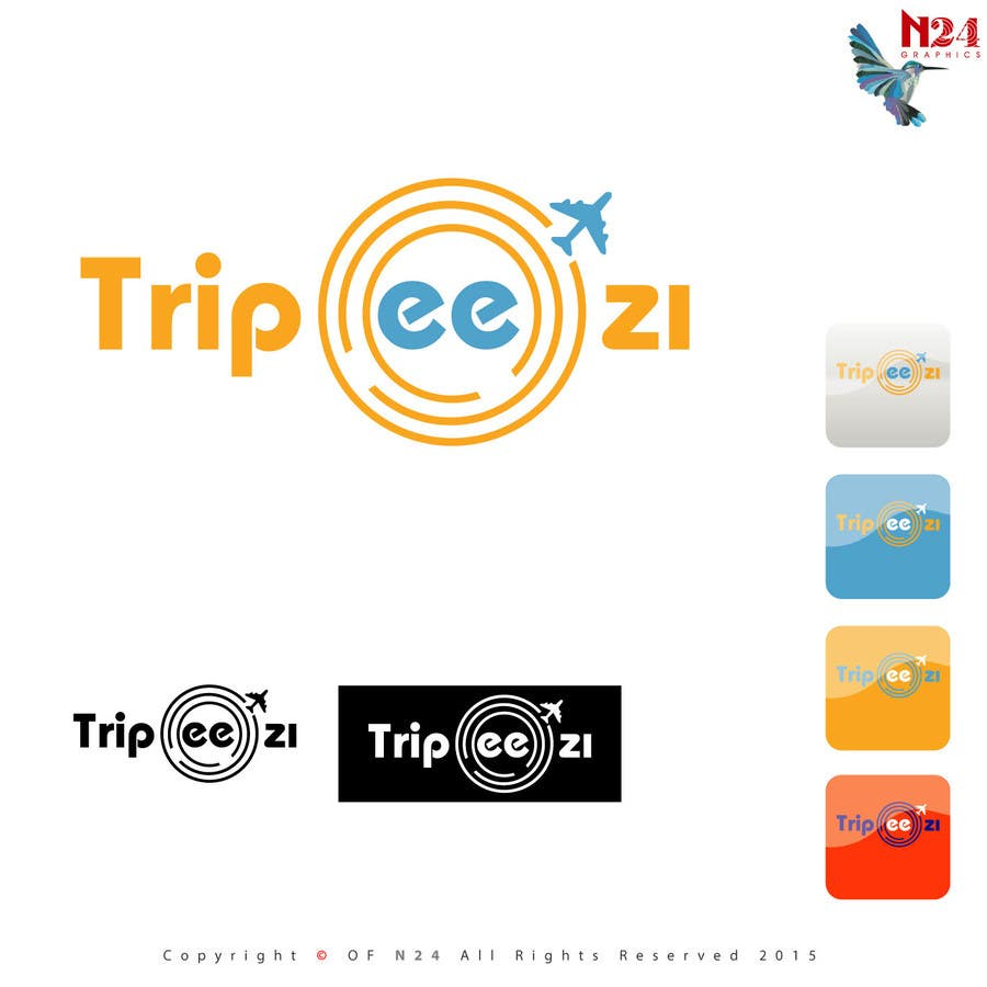 Entry #55 by n24 for Design a Logo for a travel / trip app