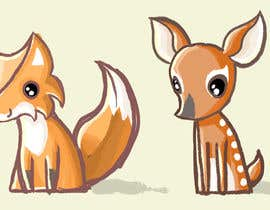 #13 untuk Illustrate Something for Plush Toy set - fox and fawn oleh MatiasDC