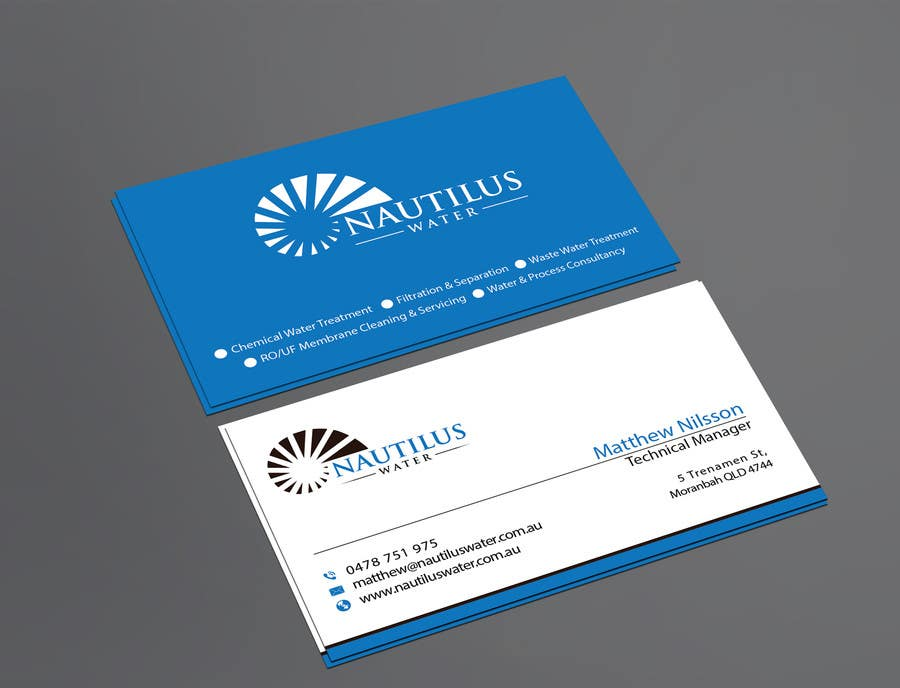 Contest Entry 104 For Design Some Business Cards Nautilus Water