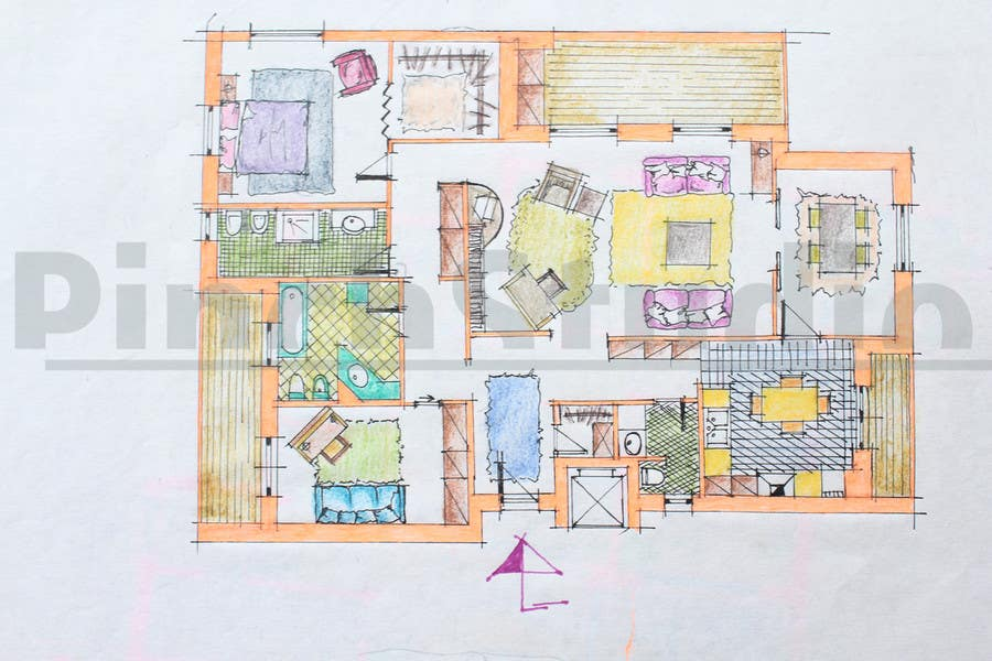 """Bài tham dự cuộc thi #                                        25                                      cho                                         3 DAYS CONTEST: Interior and Exterior Building View of any kind Hand Sketches or Sketchup """"look alike hand sketches """""""