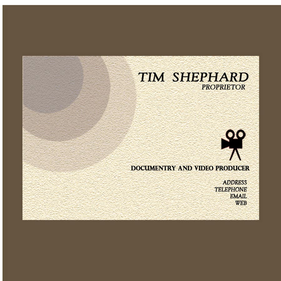 Konkurrenceindlæg #                                        29                                      for                                         Business Card Design for Tim Shephard