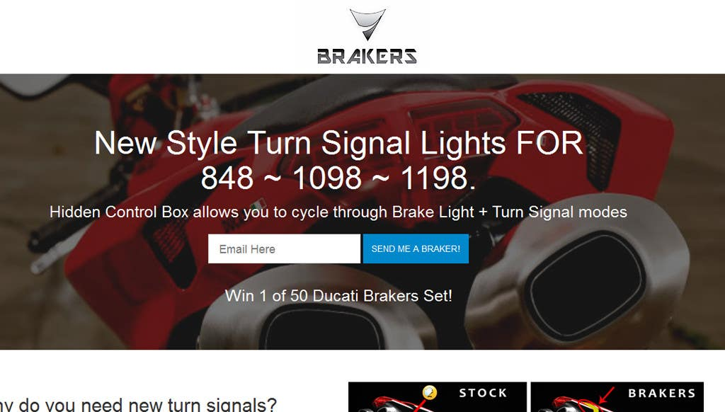 Contest Entry #                                        4                                      for                                         Design a Logo for Motorcycle Brake/Turn Lights Company
