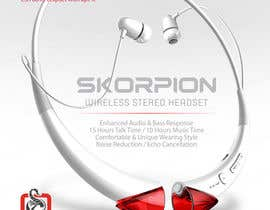 #26 untuk Create Print and Packaging Designs for Skorpion Bluetooth Headset oleh avtoringUK
