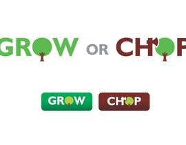 "creatrixdesign tarafından Design a Logo for ""Grow Or Chop"" with Grow and Chop buttons. için no 45"