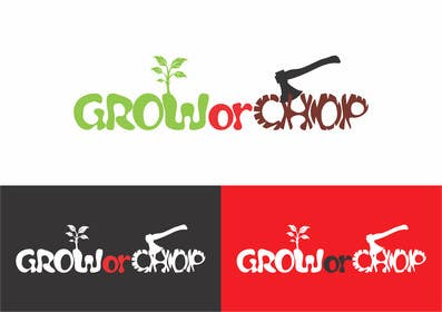 "#66 cho Design a Logo for ""Grow Or Chop"" with Grow and Chop buttons. bởi BDamian"