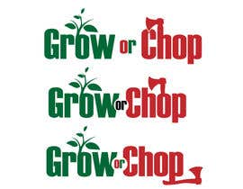 "#57 for Design a Logo for ""Grow Or Chop"" with Grow and Chop buttons. af kimuss"