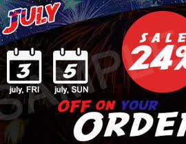 DesignerCS tarafından Design a Banner for 4th of july için no 8