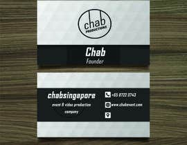 Mohamed2Foad tarafından Design some AWESOME Business Cards for Chab Pte Ltd için no 19