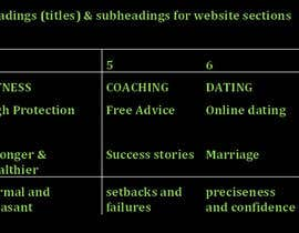 #4 for Write 12 headings (titles) & subheadings for website sections by mushakirin