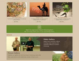#7 untuk Desert-Greening.com contest! Design our Homepage! oleh priyav09