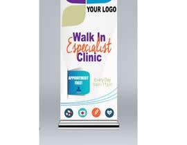 YekitaDiaz tarafından Design a Banner Roll Up for a Walk-in, appointment free specialist clinics at a hospital için no 27