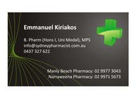 Graphic Design Entri Peraduan #90 for Business Card Design for retail pharmacist based in Sydney, Australia