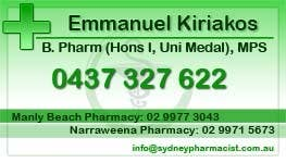 Contest Entry #24 for Business Card Design for retail pharmacist based in Sydney, Australia