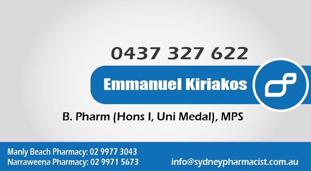 Contest Entry #142 for Business Card Design for retail pharmacist based in Sydney, Australia