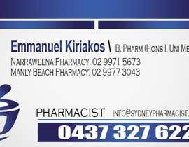 #141 pentru Business Card Design for retail pharmacist based in Sydney, Australia de către daviddesignerpro