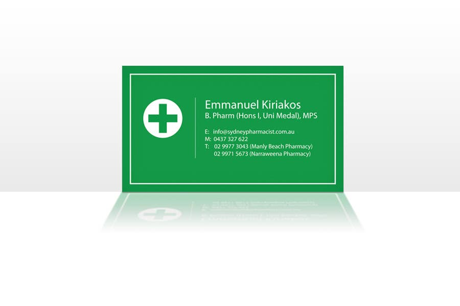 Entry #51 by redstep for Business Card Design for retail pharmacist ...