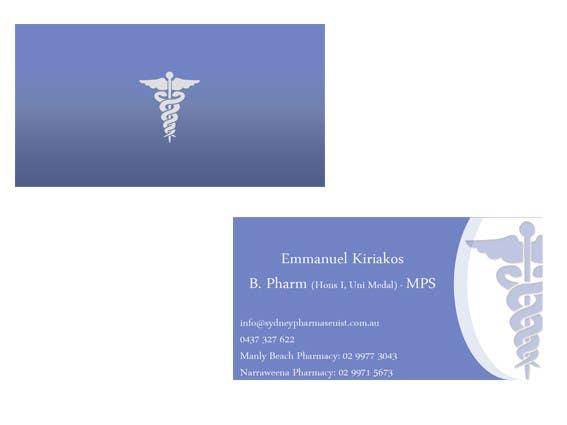 Penyertaan Peraduan #153 untuk Business Card Design for retail pharmacist based in Sydney, Australia