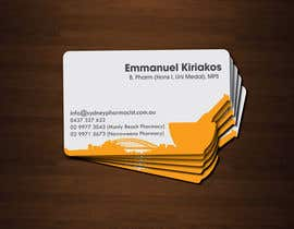#152 untuk Business Card Design for retail pharmacist based in Sydney, Australia oleh zulfibd08