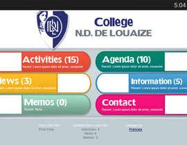 nº 10 pour Enhance a design for a school mobile app par CreativeDezigner